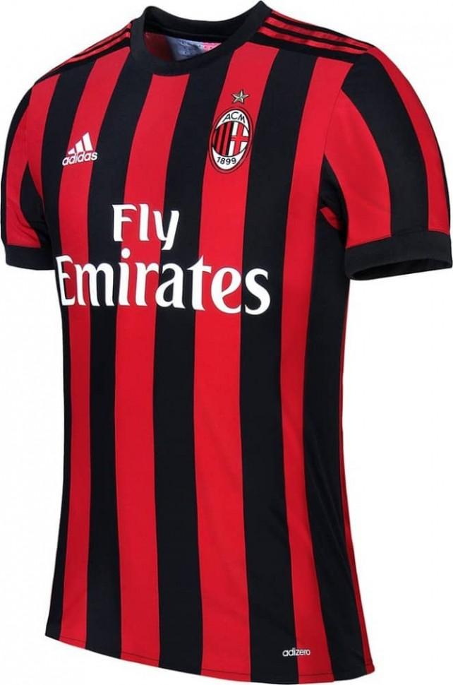 d94783442851 Форма футбольного клуба Милан 2017 2018 (комплект  футболка + шорты + гетры)